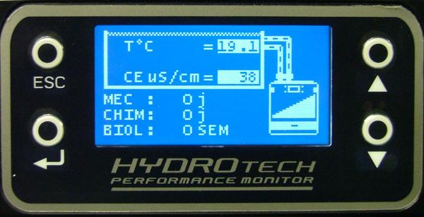 Ecran de contrôle des filtres FLUVAL G