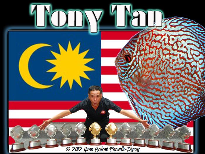 Tony Tan et ses 12 trophées Malaysia 2012
