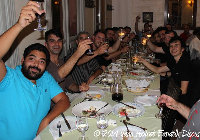 Repas de Gala Greek Discus Show 2014