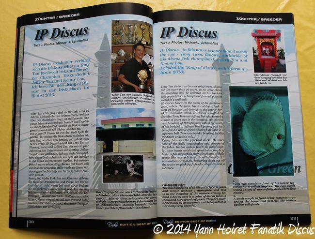 Diskus Year Book 2014 Reportage Tony Tan