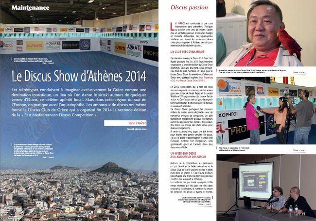 AQUAMAG Magazine Discus Show Athènes